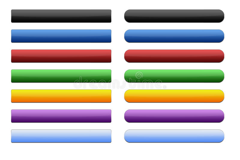 Buttons Headers Stock Photography