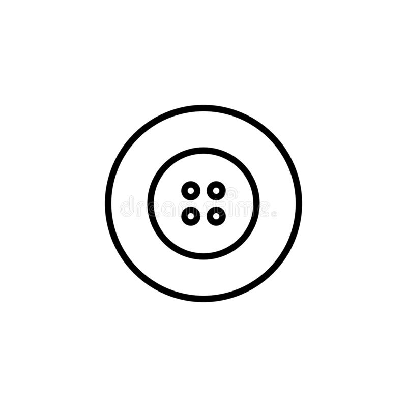 Buttons Icon with line style. fashion icon royalty free illustration