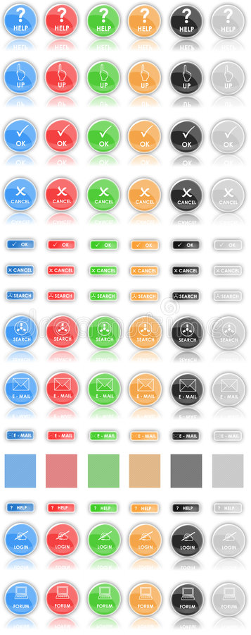 Buttons (icons) of Web 2.0 royalty free stock photos