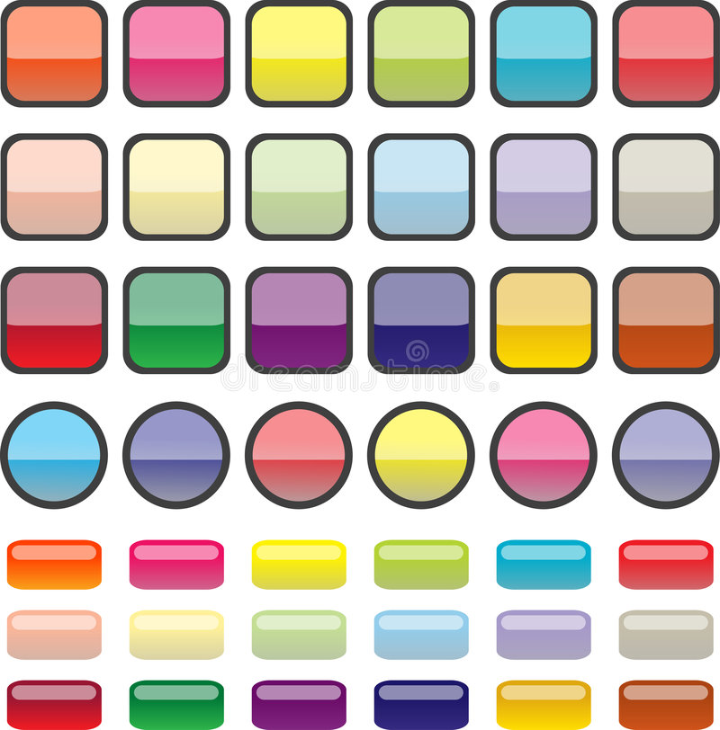 Buttons Illustrations Stock Photo