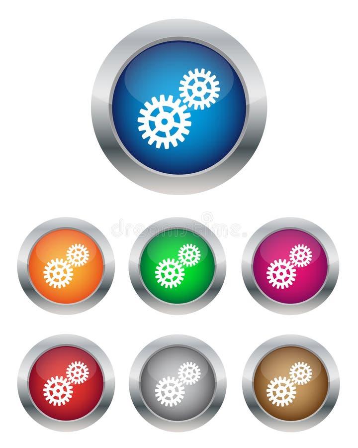 buttons inställningar stock illustrationer