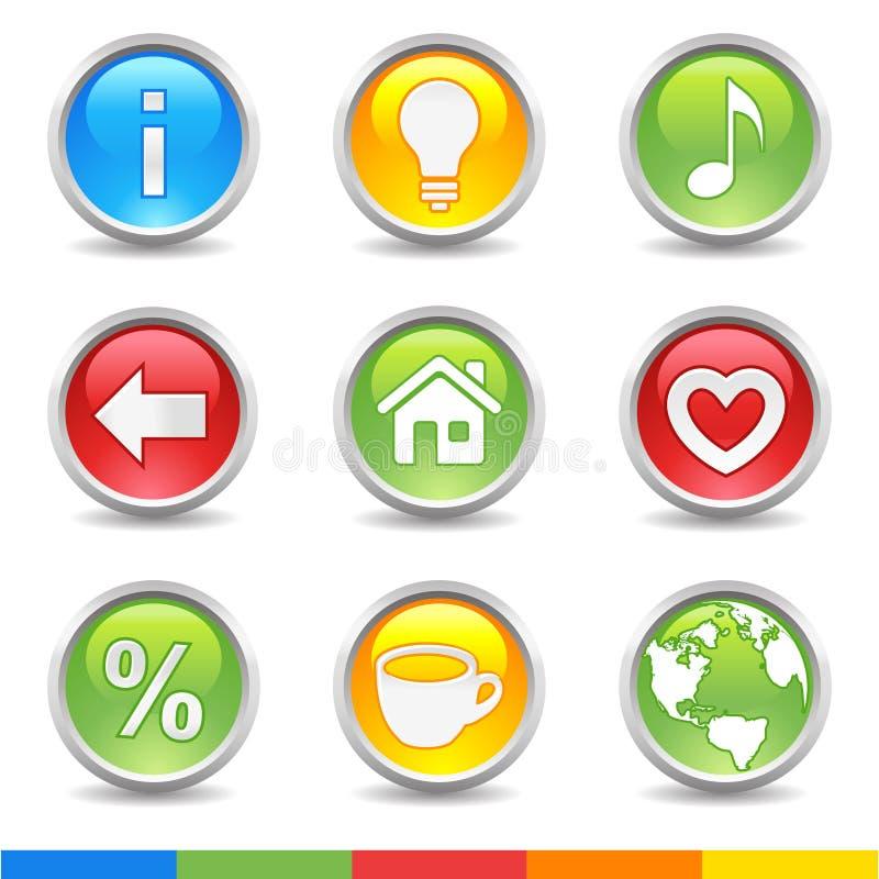 buttons internet royaltyfri illustrationer