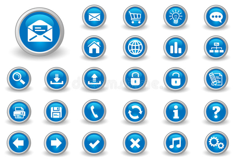 buttons internet stock illustrationer