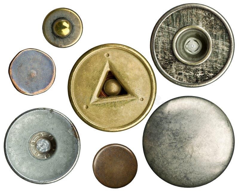buttons jeans arkivfoto