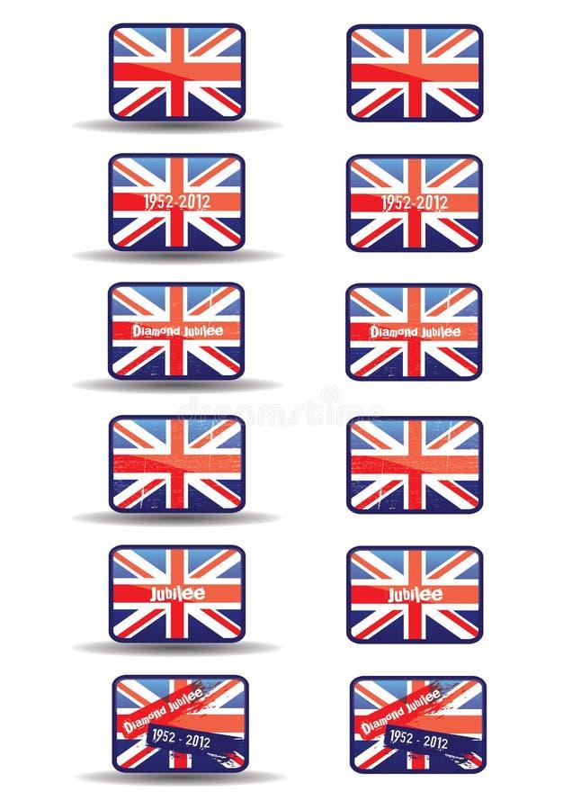 buttons jubileerengöringsduk royaltyfri illustrationer