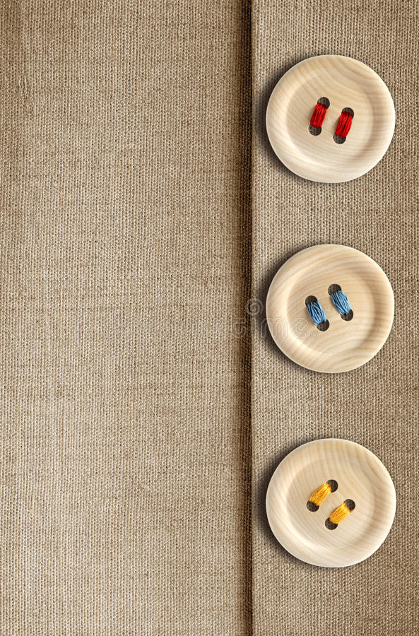buttons kanfas royaltyfri foto