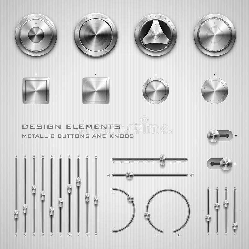 Buttons and knobs vector illustration