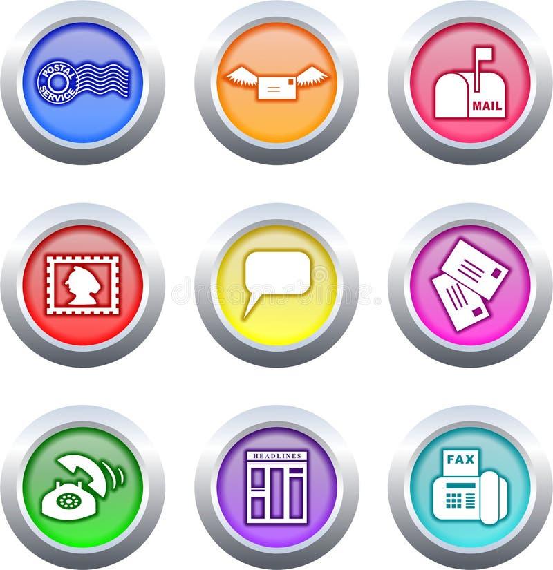 buttons kommunikation vektor illustrationer