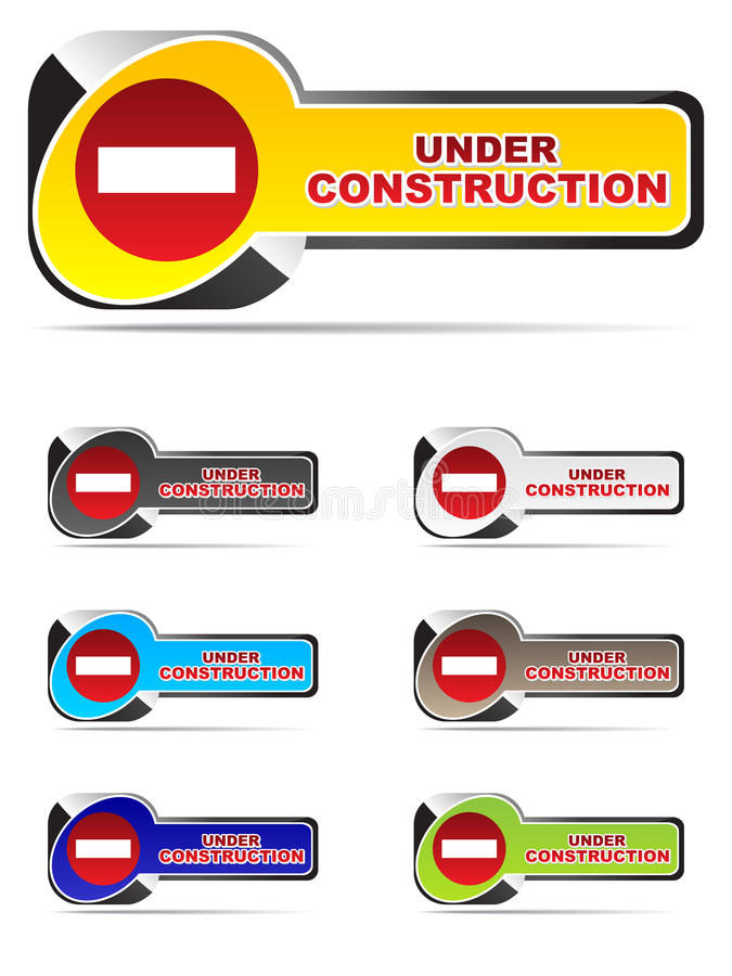 buttons konstruktion under vektor illustrationer