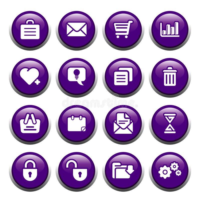 buttons kontoret stock illustrationer