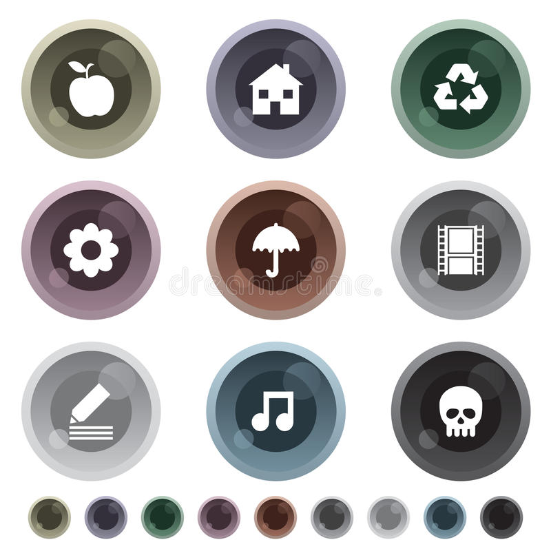 buttons lutning stock illustrationer