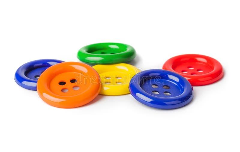 buttons mångfärgat royaltyfria foton