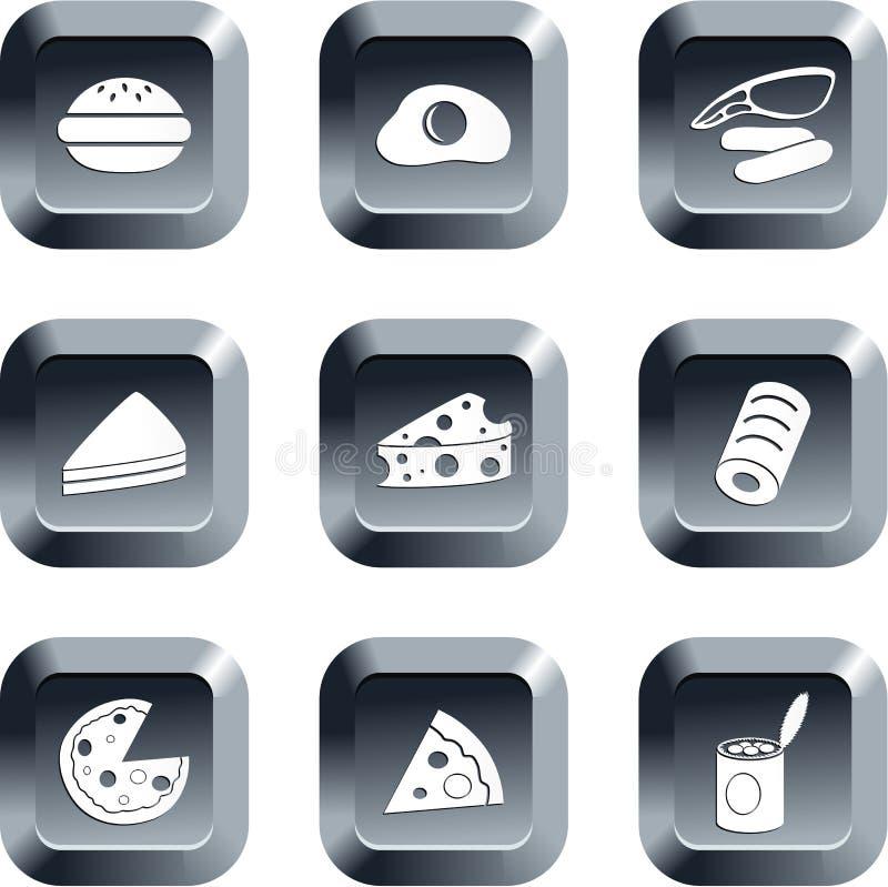 buttons mat royaltyfri illustrationer
