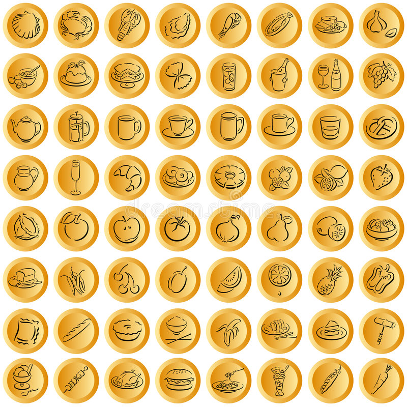 buttons matsymbolwhith stock illustrationer