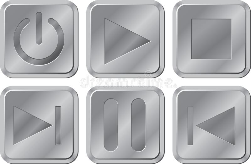 Buttons for media player