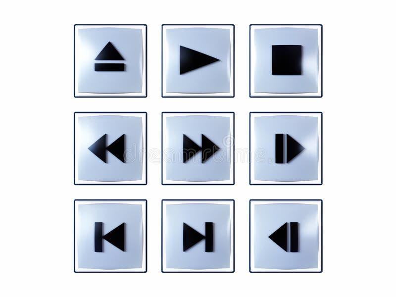 buttons multimedior stock illustrationer