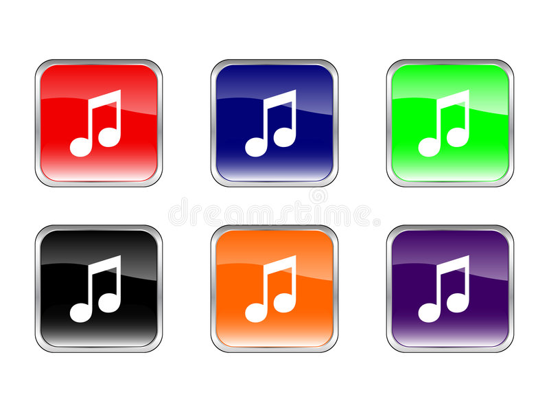 Download Buttons music stock vector. Image of navigation, music - 3941174