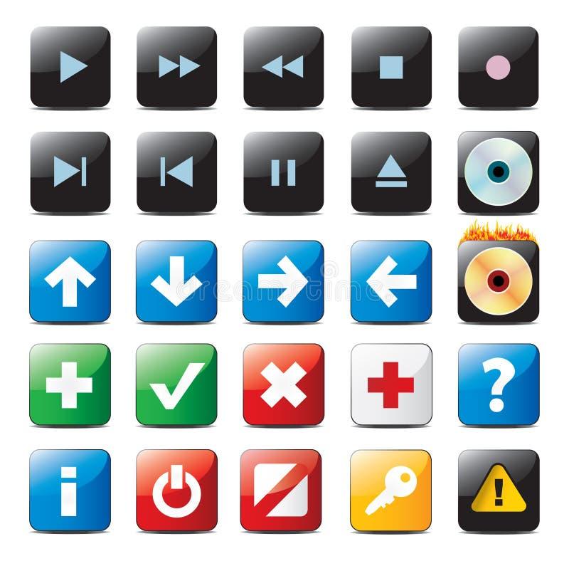 buttons navigering royaltyfri illustrationer