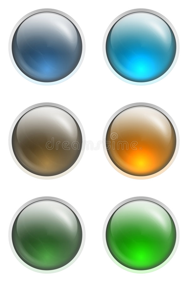 Buttons ON and OFF stock illustration