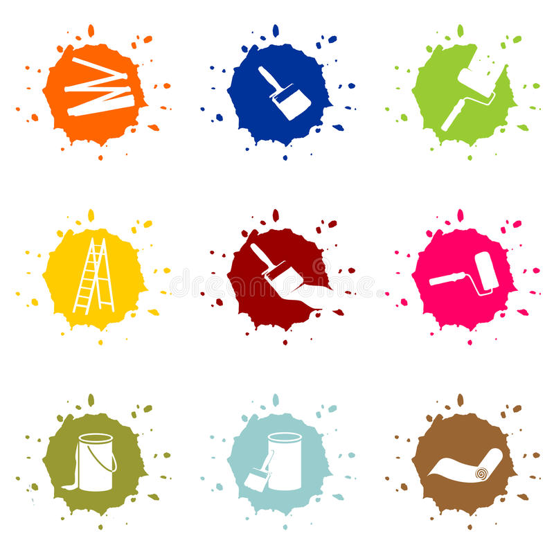 Download Buttons for painters stock illustration. Image of background - 31168658