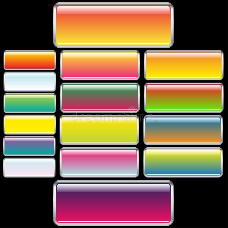 buttons rektangulär rengöringsduk vektor illustrationer