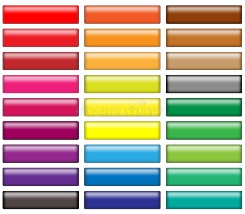 buttons rengöringsduk stock illustrationer