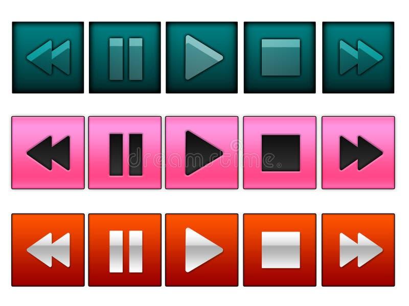 buttons reproduktionen stock illustrationer
