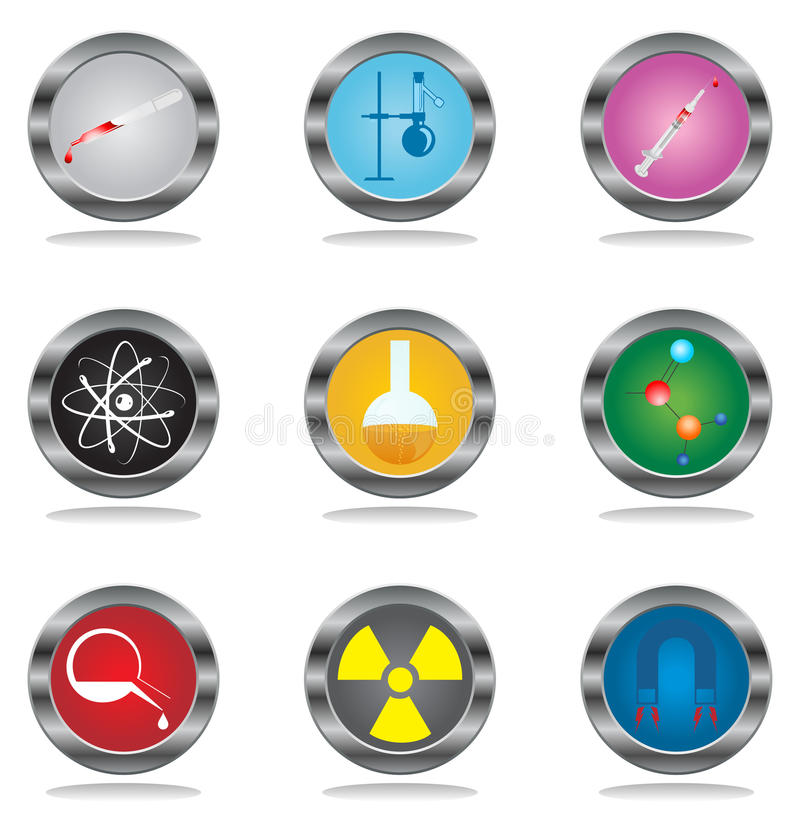 Buttons a science vector illustration