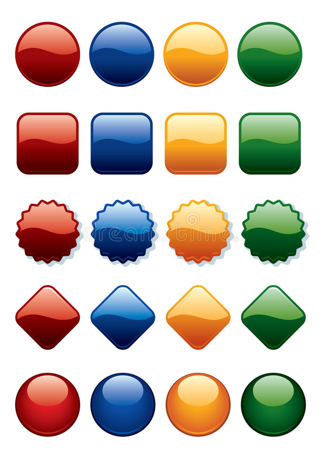 Buttons set vector illustration