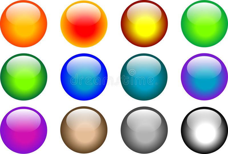 Download Buttons set stock vector. Image of aqua, color, purple - 7926687