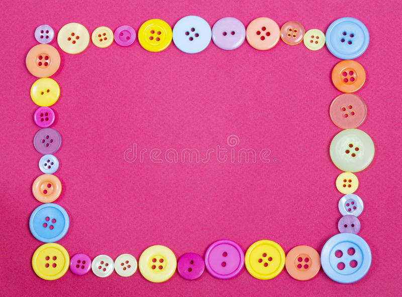 Buttons in the shape of a frame. Ideal website or poster background with textiles or fashion or retro vintage theme royalty free stock image