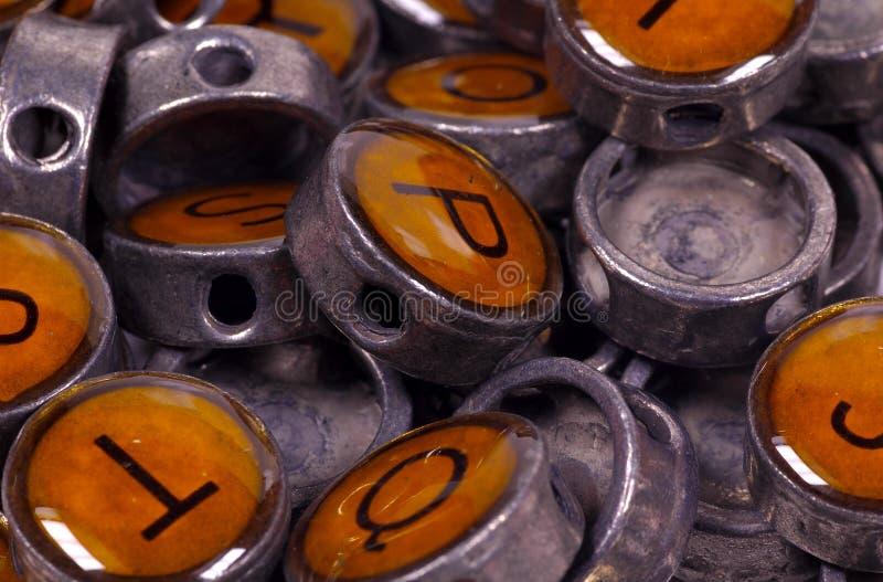 buttons skrivmaskinstappning arkivbild
