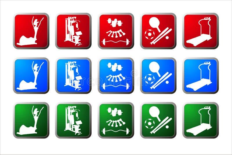 buttons sporten vektor illustrationer