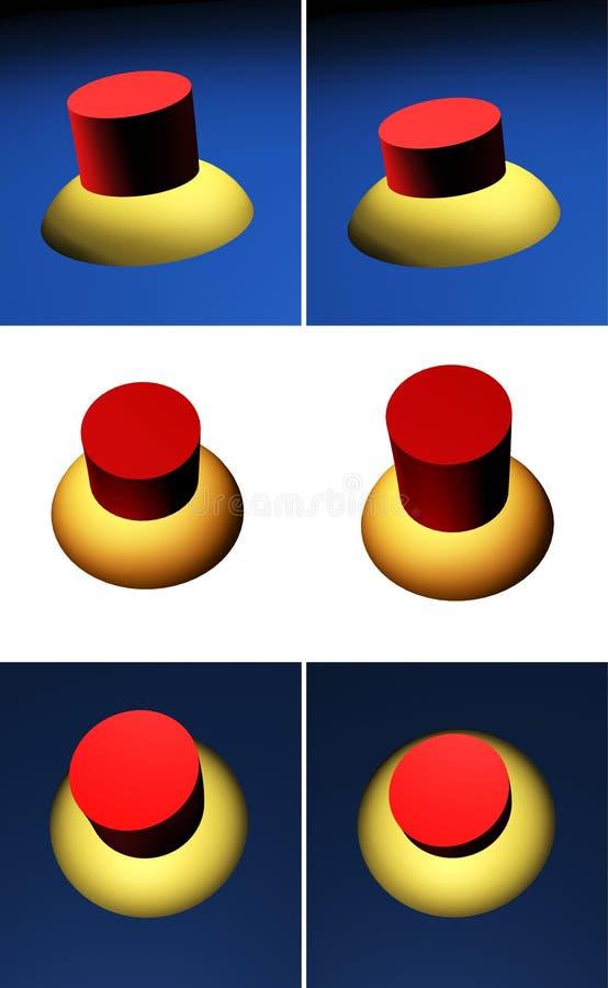 buttons swich royaltyfri illustrationer