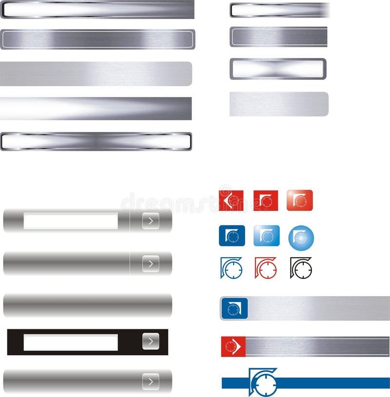 buttons symbolsinternet royaltyfri illustrationer