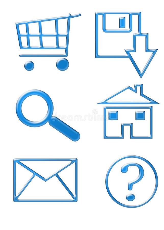 buttons symbolswebsite royaltyfri illustrationer