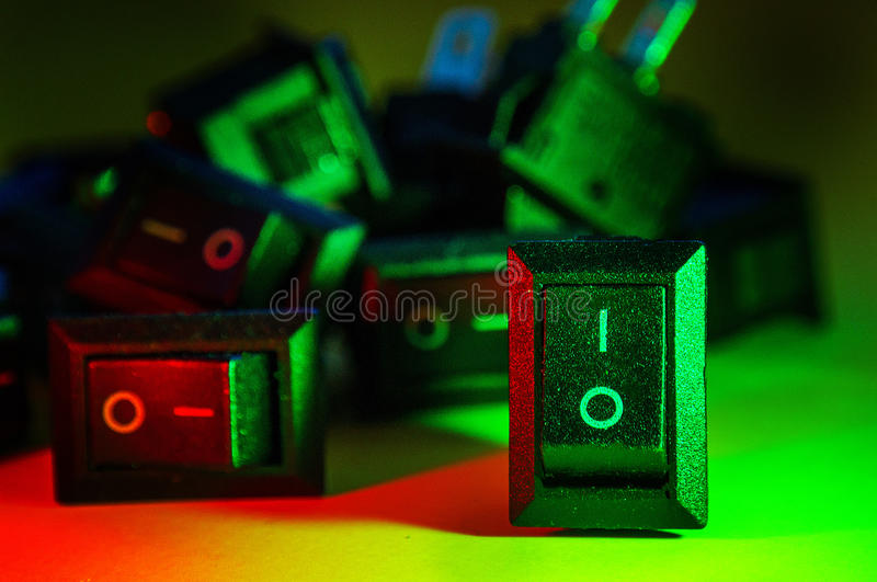 On of buttons Technology components background. On of buttons Technology components royalty free stock images