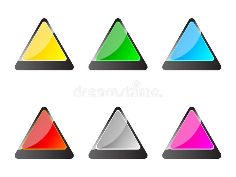 buttons triangeln stock illustrationer
