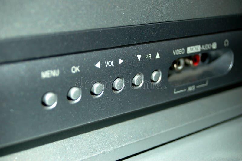 buttons tv:n royaltyfria bilder