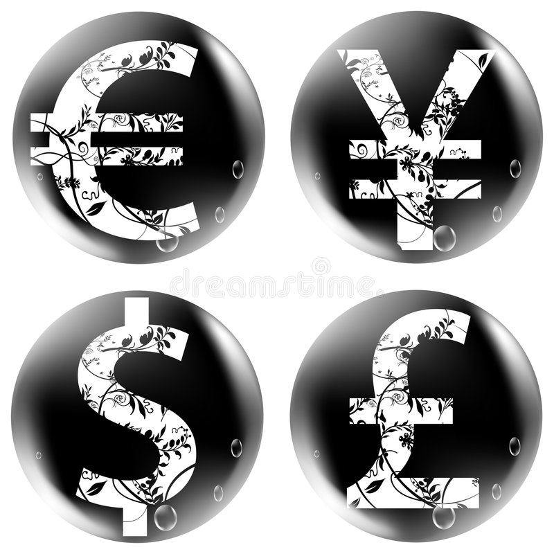 Buttons Valuta Royaltyfri Foto