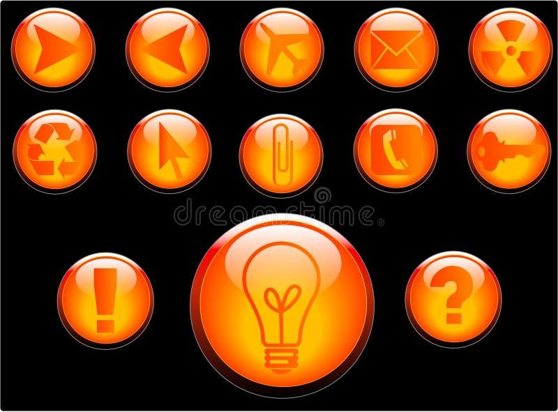 buttons vektorn royaltyfri illustrationer
