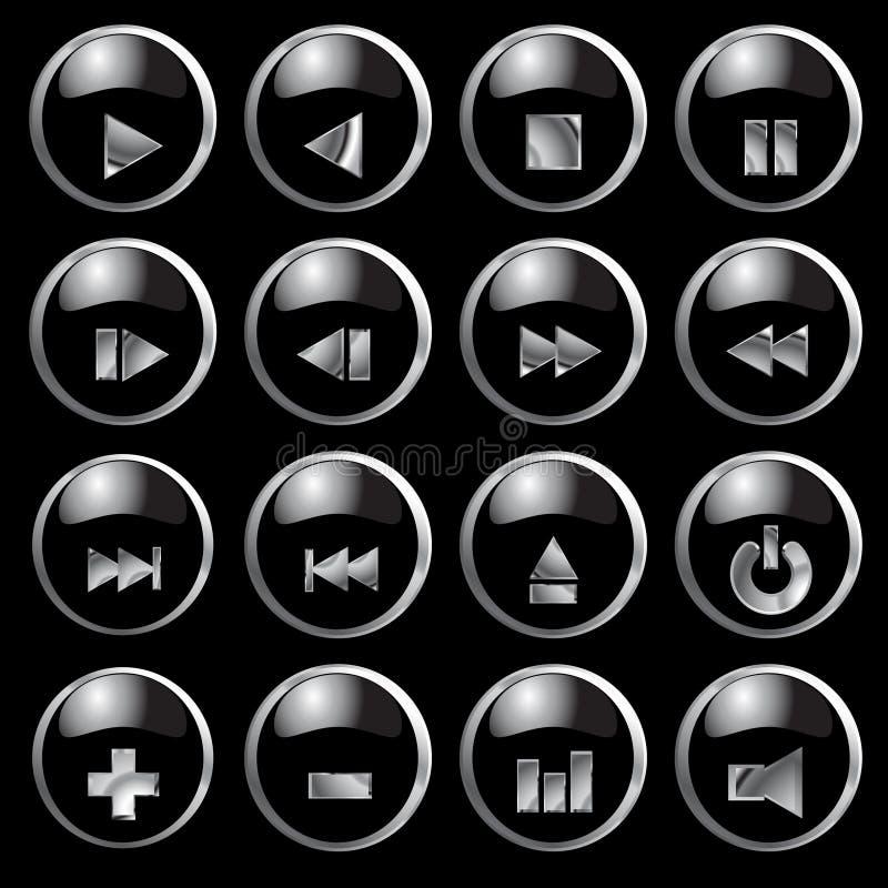 buttons vektorn stock illustrationer