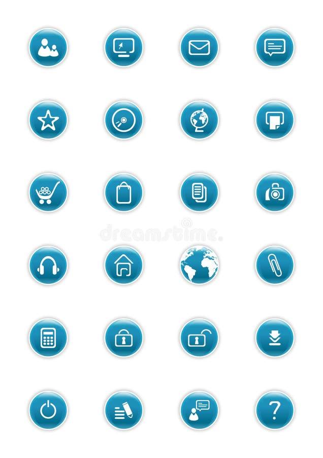 buttons vektorwebsite royaltyfri illustrationer