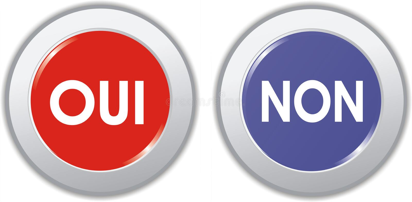 Buttons vote yes or no vector illustration