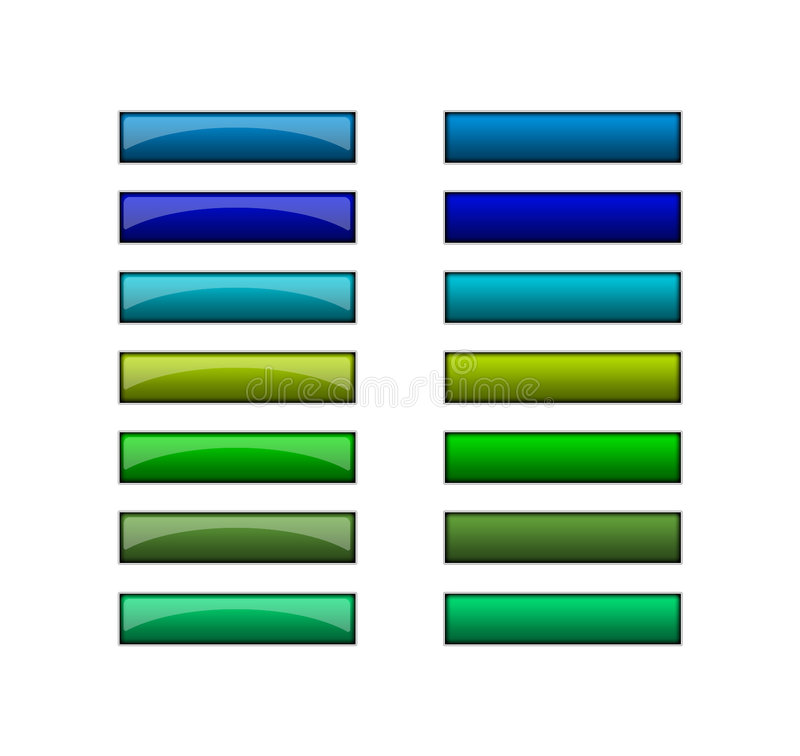 Buttons for web - blue green royalty free illustration