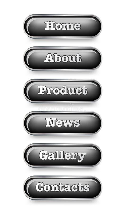 buttons website royaltyfri illustrationer