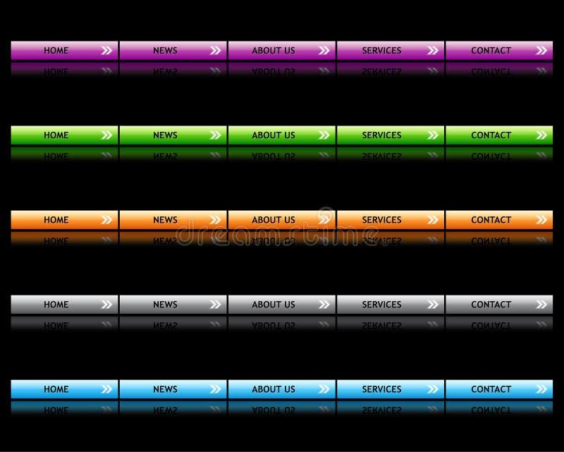 buttons website vektor illustrationer