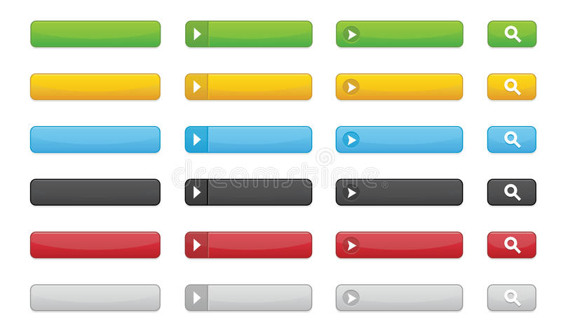 Buttons For Websites Stock Image