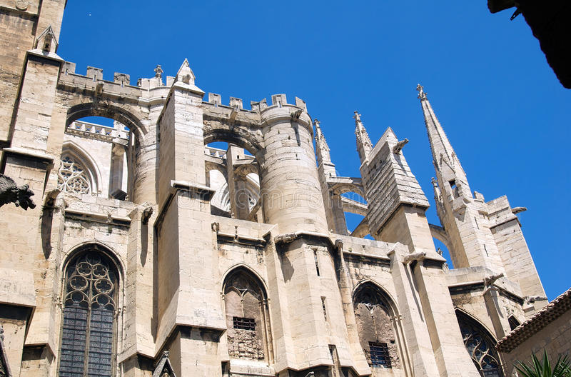 Download Buttresses 2 stock image. Image of languedoc, exterior - 12242267