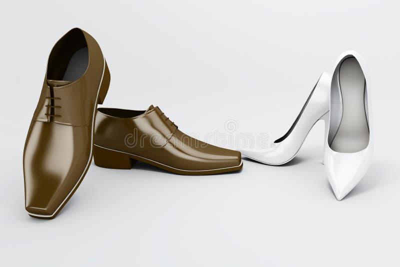 Download Buty ilustracji. Ilustracja złożonej z elegancja, czerwień - 13328974